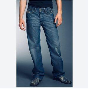 Diesel Mens Quratt Straight Leg Distressed Jeans